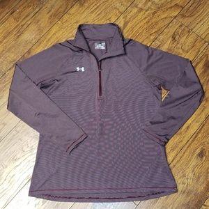 UNDER ARMOUR Men's L/S Quarter Zipper Pullover LG